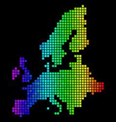 luminous dotted european union map vector image