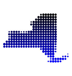map of new york vector image