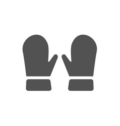 Mittens icon on white background vector