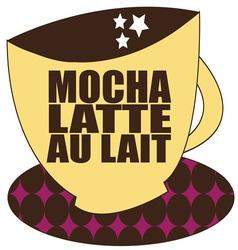 Mocha Latte vector