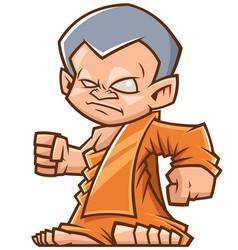 monk vector image