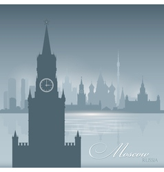 Moscow Russia skyline city silhouette Background vector image