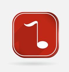 Musical note Color square icon vector