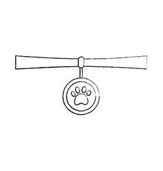 pet necklace medal identity animal vector image