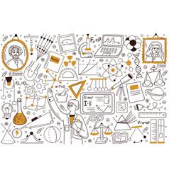 Physics doodle set vector