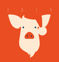pig icon piggy a symbol of the 2019 chinese new vector image