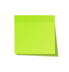 realistic sticky note with shadow green paper vector image