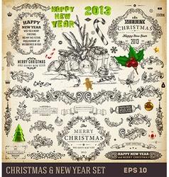 Retro Christmas Icon Set vector