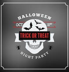 Retro vintage happy halloween badge night party vector