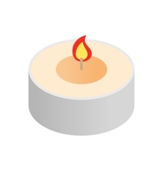 Round spa candle isometric icon vector image