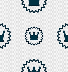 rown icon sign Seamless pattern with geometric vector image
