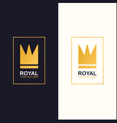 royal crown logotype gold style vector image