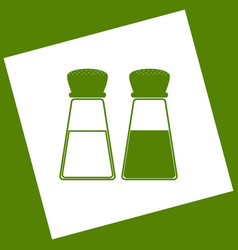 Salt and pepper sign white icon obtained vector