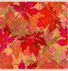 Seamless pattern maple leaves vector