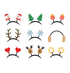 set christmas accessories for carnival party vector image