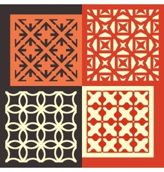 Set of four seamless patterns Vintage geometric vector image