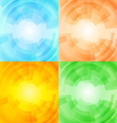 Set of season backgrounds vector image