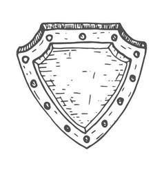 shield hand drawn sketch vector image