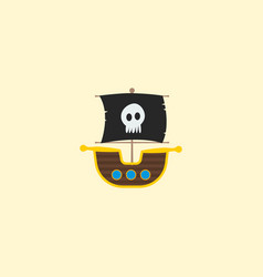 ship icon flat element of vector image