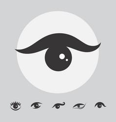 Simple eye icon isolated vector
