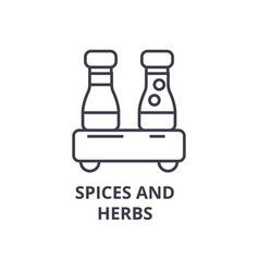 spices and herbs line icon outline sign linear vector image