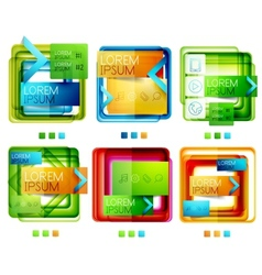 Square web design boxes set vector image