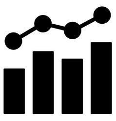 Stats charts flat icon vector