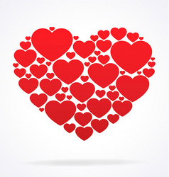 Stylised cluster of valentines day hearts vector