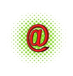 Symbol e-mail icon pop-art style vector