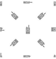 talkie radio pattern seamless vector image