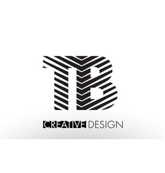 Tb t b lines letter design with creative elegant vector