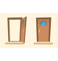 The Cartoon Doors vector