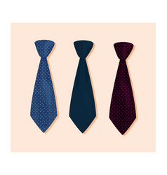 Three necktie accessories vector