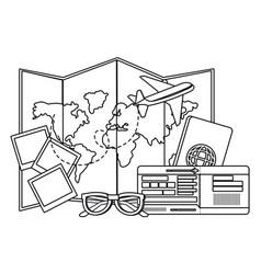 Travel icon set design vector