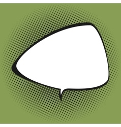 Triangular speech bubble on green background vector
