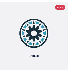 Two color spokes icon from sew concept isolated vector