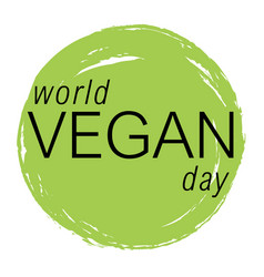 vegan day colorfull vector image