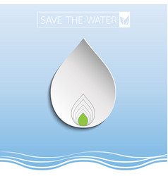 water drop with paper art vector image