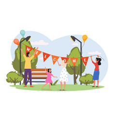 Welcome to holiday concept vector