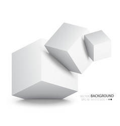 White cubes isolated on background vector