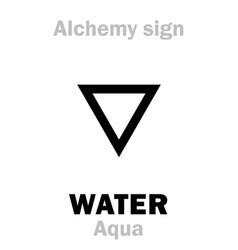 alchemy water aqua vector image