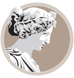 ancient goddess vector image