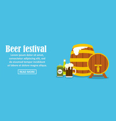beer festival banner horizontal concept vector image