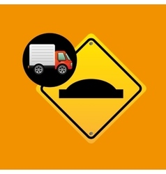 Bump traffic sign concept vector