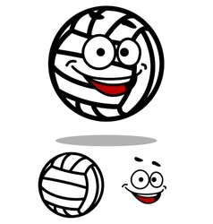 Cartoon white volleyball ball character vector image vector image