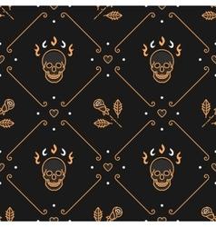 Floral pattern seamless rhombus backdrop Art vector image
