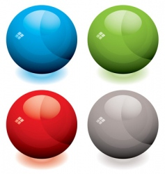 glass marble buttons vector image