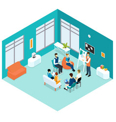 isometric business presentation concept vector image vector image