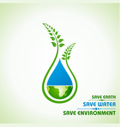 save earthwater and environment concept vector image