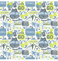 travel motivation badge seamless patterns vector image